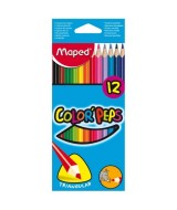 LAPICES DE COLOR MAPED COLOR PEPS LARGOS-CAJAx12un.-183212