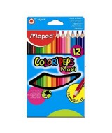 LAPICES DE COLOR MAPED COLOR PEPS JUMBO-CAJAx12un.-834010