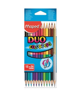 LAPICES DE COLOR MAPED COLOR PEPS DUO-CAJAx12=24un.- 829600