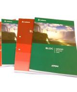 BLOCK AVON OFICIO 2 PERFORACIONES 80 hj.CUADRICUL.- 100023  (x1)