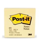 BLOCK DE NOTAS POST-IT 654 - 76,2x76,2mm.- 52199  (x1)