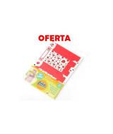 CARTULINA ENTRETEN.VAQUITA TROQ.BOLSITA A4-BL.x10hj.-0101/1