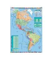 MAPA MURAL PLASTIF.CONT.AMERICANO POL. 95x130cm.  (x1)