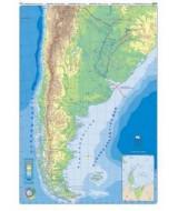 MAPA MURAL PLASTF.ARGENTINA FIS/POL. D/FAZ 95x130cm.  (x1)
