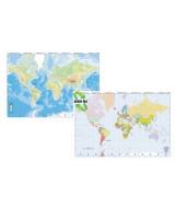 MAPA MURAL PLASTIF.PLANISFERIO F/POL.D/FAZ 95x130cm.  (x1)
