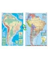 MAPA MURAL PLASTIF.AMERICA.DEL SUR F/P. 95x130cm..  (x1)