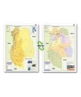 MAPA MURAL PLASTIF.MENDOZA FIS/POL.D/FAZ 70x102cm.  (x1)