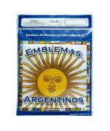 BANDERA ARGENTINA DE POLIAMIDA CON SOL 90x144cm.  (x1)