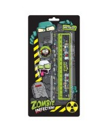 SET ZOMBIE INFECTION, LAPIZ, SACAP., GOMA,1 REGLA 12x24cm.40