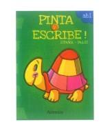 LIBRO PINTA Y ESCRIBE TORTUGA ESPAÑOL/INGLES T/F.8 P.17x24cm  (x1)