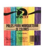 PALITOS P/HELADO DE COLORES EZCO - PAQ.x 50 un.-