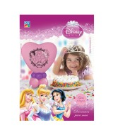 KIT DECOR.GLOBO CORAZON PRINCESA P/MESA 10048