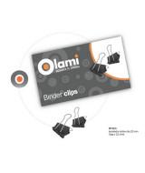 BINDER CLIPS OLAMI NEGRO  25mm.- CAJAx12un.- MT103  (x1)