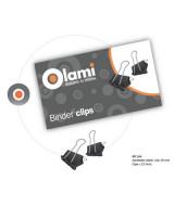 BINDER CLIPS OLAMI NEGRO 19mm.- CAJAx12un.- MT104  (x1)